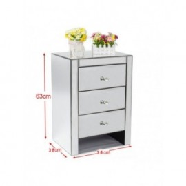 Mirrored Bedside Cabinet...