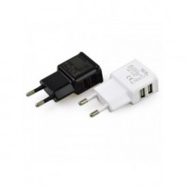 EU plug 5V 2A Dual USB Universal Mobile Phone Chargers Travel Power Charger Adapter Plug Charger for iPhone for Android